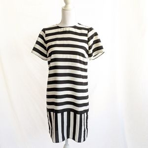 Asos Striped dress 2 Black White Shift Crew neck